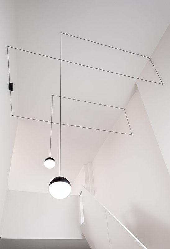 Bombillas String Light Sfere Kombination zwei Hängeleuchten rund
