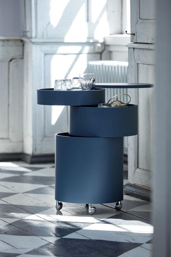 Bombillas Barboy Blue mobiler Beistelltisch mit Aufbewahrungsmöglichkeiten