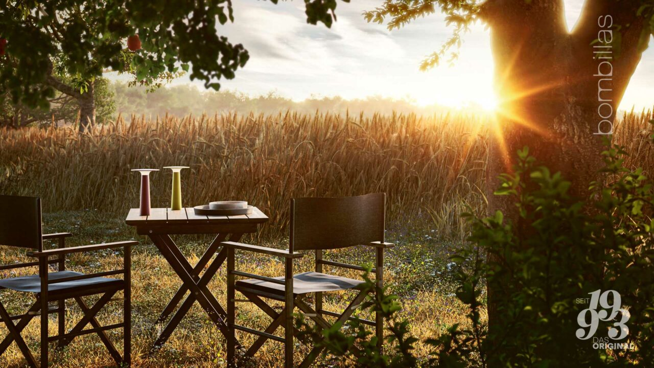 Akku-Leuchte kabellos für draußen - Sommerangebot Bombillas Rosenheim am Feld